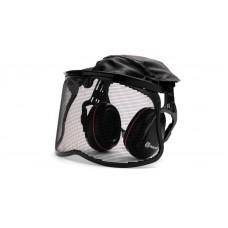 Gehörschutz mit Netzvisier